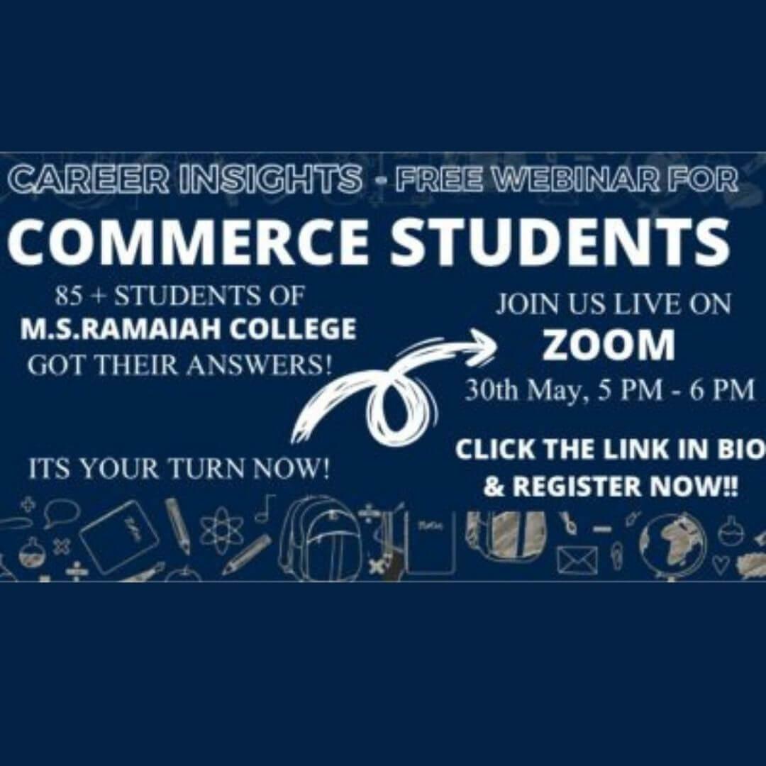 Commerce Insights – webinar for commerce students