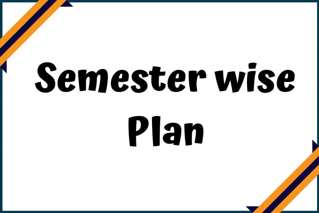 Career management plan for each semester