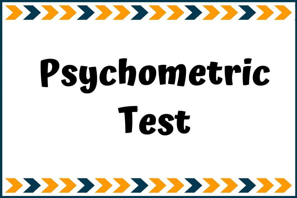 Psychometric test for career development